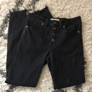 Madewell button fly 9 inch skinny